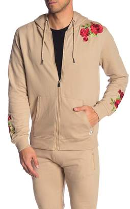Soul Star Embroidered Zip Front Hoodie