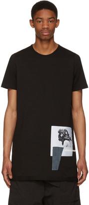 Rick Owens Drkshdw Black Level Patch T-Shirt $395 thestylecure.com