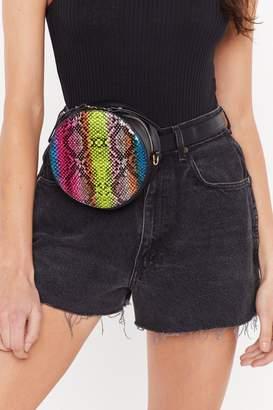 Nasty Gal WANT Fangs to You Snake Crossbody Belt Bag