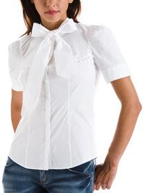 Mini Ruffle Bow Tie Shirt