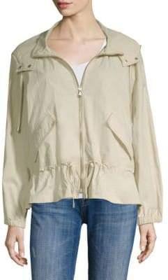 Donna Karan Hooded Long-Sleeve Full-Zip Jacket