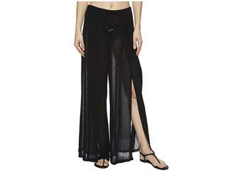 Robin Piccone Francesca Wide Leg Front Slit Pant Cover-Up