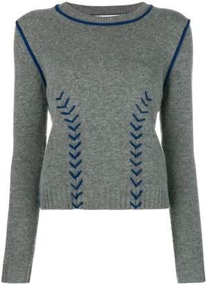 Parker Chinti & contrast stitch sweater