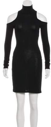 Balmain Wool Mock Neck Dress