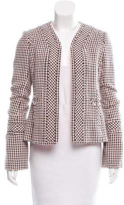 Tuleh Tweed Collarless Blazer