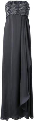 Armani Collezioni strapless draped gown