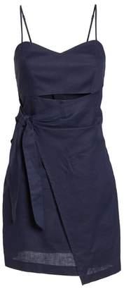 Bardot Sweetheart Linen Blend Dress