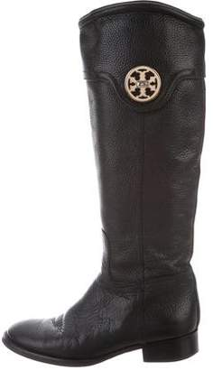 Tory Burch Leather Round-Toe Boots