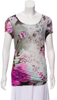 Etro Floral Print Short Sleeve Top