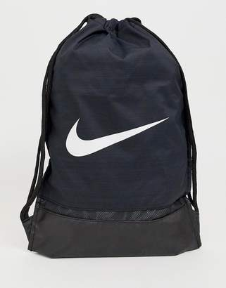 Nike swoosh drawstring backpack in black ba5338-010 1b01afb91e