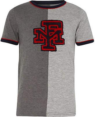 River Island Boys Franklin and Marshall grey T-shirt