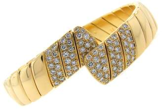 Cartier 18K Yellow Gold 1.85ct. Diamond Bangle Bracelet