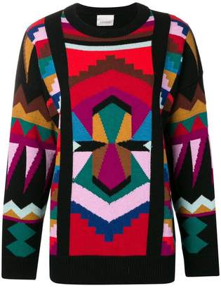Laneus geometric pattern sweater