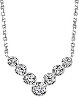 Sirena 1/4 CT. T.W. Diamond 14K White Gold Necklace