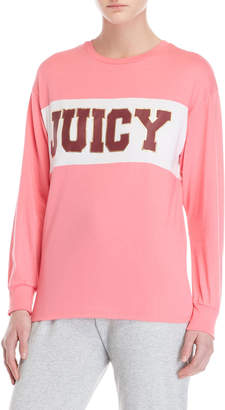 Juicy Couture Color Block Logo Long Sleeve Tee