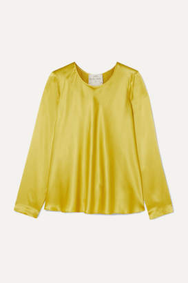 Forte Forte forte_forte - Washed Silk-satin Top - Lime green