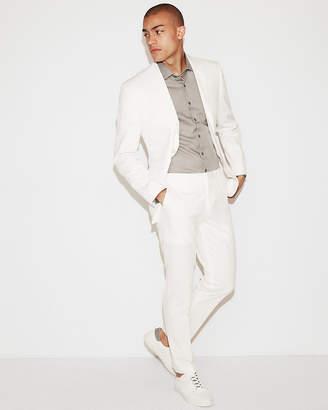 Express Slim White Cotton-Blend Stretch Suit Pant