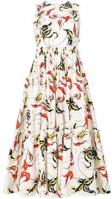 Fausto Puglisi flared print dress