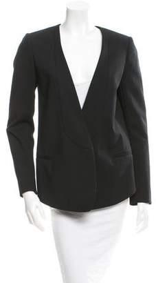 Tibi High-Low Open Front Blazer