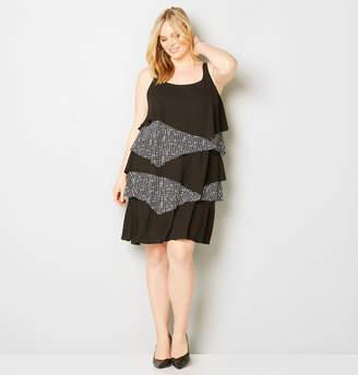 Avenue Ruffle Tiered Sheath Dress
