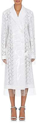 Calvin Klein Women's Plastic-Layered Broderie Anglaise Coat