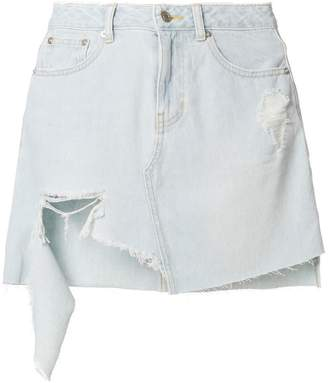 Sjyp ripped denim skirt