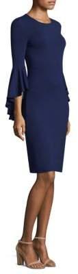 Michael Kors Collection Ruffle JerseyBell-Sleeve Dress