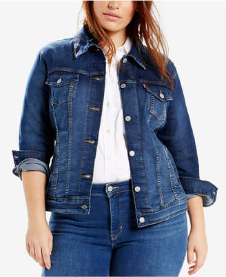 Levi's® Plus Size Trucker Denim Jacket $74.50 thestylecure.com