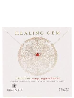 Dogeared Sterling Silver Healing Gem Carnelian Station Necklace
