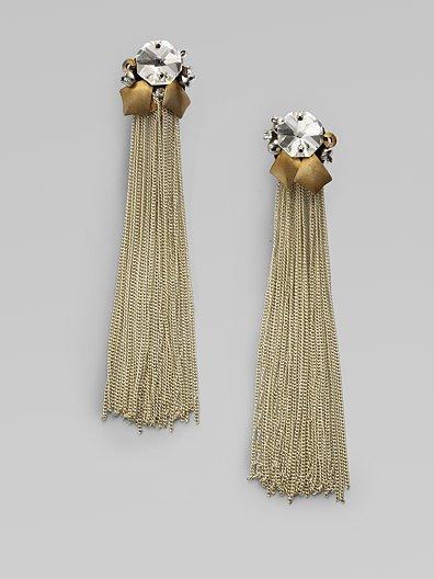 Ranjana Khan Chain Fringe Earrings