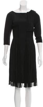 Prabal Gurung Ruched Long-Sleeve Dress w/ Tags