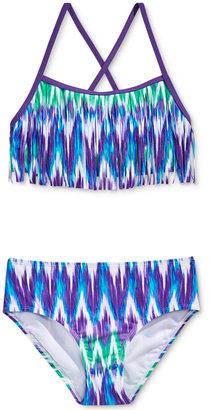 Kanu Surf 2-Pc. Kelly Fringe Bikini Swimsuit, Big Girls (7-16) $36 thestylecure.com