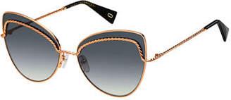 Marc Jacobs Metal Twist Cat-Eye Sunglasses
