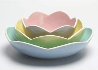 Mainstays Floral Shaped Ceramic Nested Bowl, Set of 3