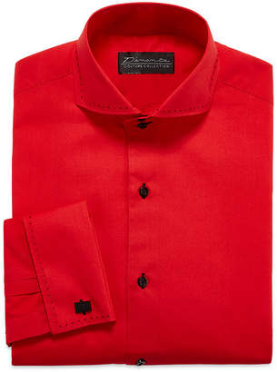 DAMANTE D'Amante Modern French Cuff Long Sleeve Dress Shirt