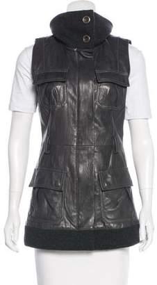 Diane von Furstenberg Millitante Leather Vest