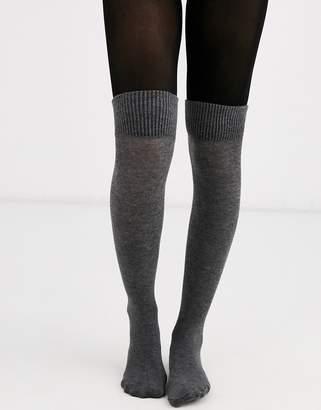 Jonathan Aston boot sock tights in grey