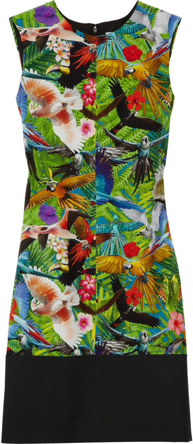 Altuzarra Spring tropical-print silk crepe de chine dress