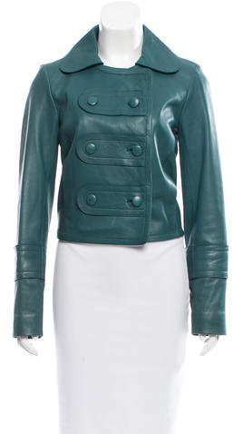 Chloé Chloé Double-Breasted Leather Jacket