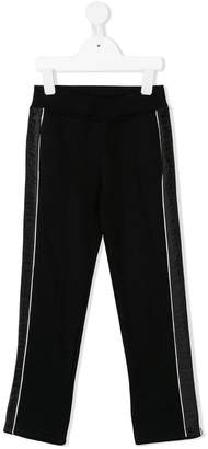 Givenchy Kids branded strap trousers
