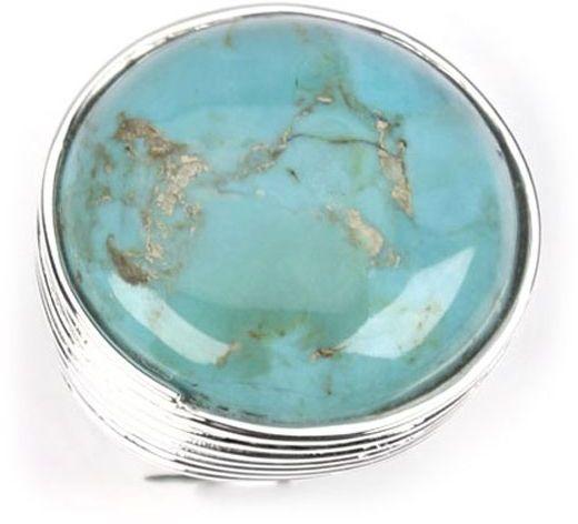Barse turquoise circle ring