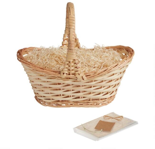 Natural Gift Basket Kit with Handle