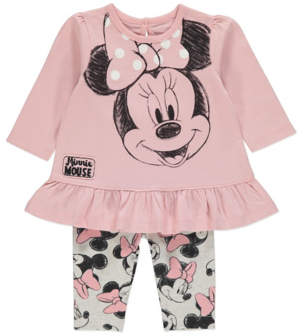 Disney Pink Minnie Mouse Top and Leggings Outfit