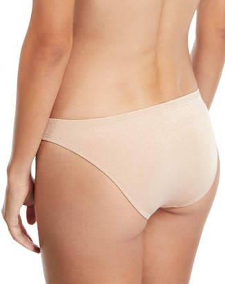 Vitamin A Neutra Hipster Swim Bikini Bottom, Rose Gold
