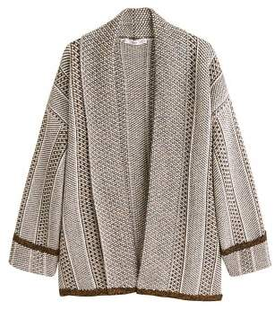 MANGO Jacquard cotton cardigan
