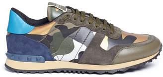 Valentino 'Camouflage Rockrunner' patchwork sneakers