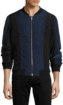 BLK DNM Men's Colorblocked Bomber Jacket