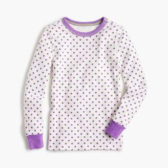 J.Crew Girls' pajama set in dots and stripes