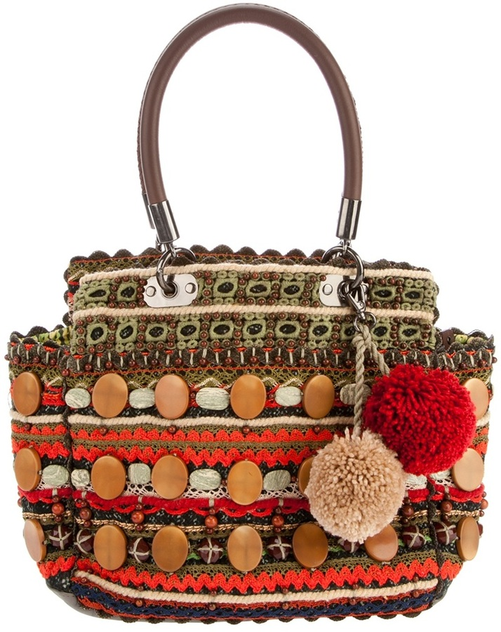 Jamin Puech Woven tote