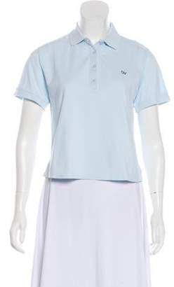 Outdoor Voices Short Sleeve Polo Top w/ Tags Blue Short Sleeve Polo Top w/ Tags